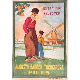 1930s Vintage Spanish Label, Windmill