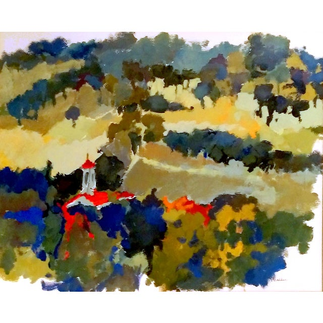 Nan Nalder Abstract Secluded Church Painting - Image 2 of 7