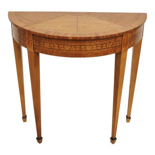 Baker Furniture Demilune Console Table