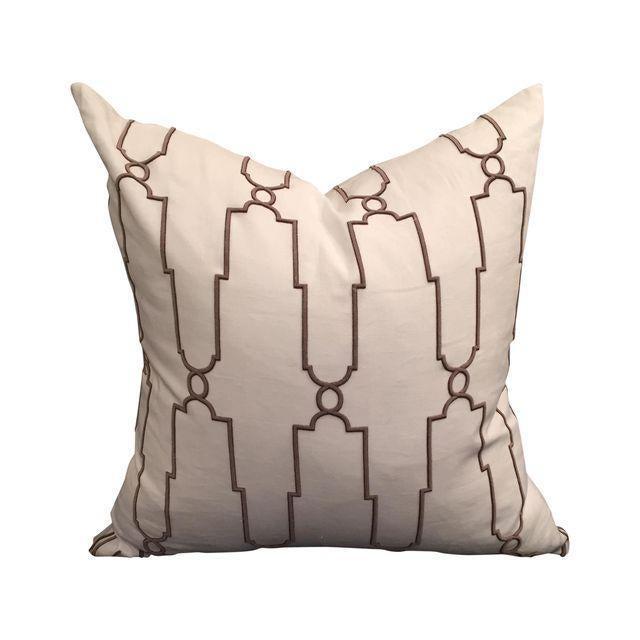 Image of Raised Geometric Pillow