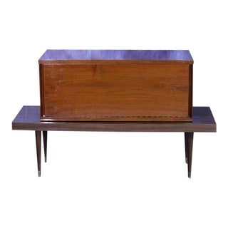 Mid-Century Modern Walnut Bar Table