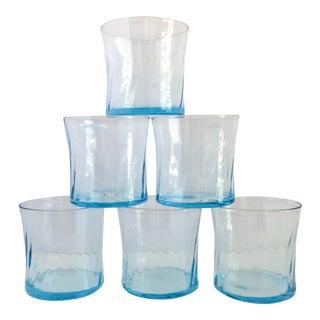 Vintage Electric Blue Glassware - Set of 6