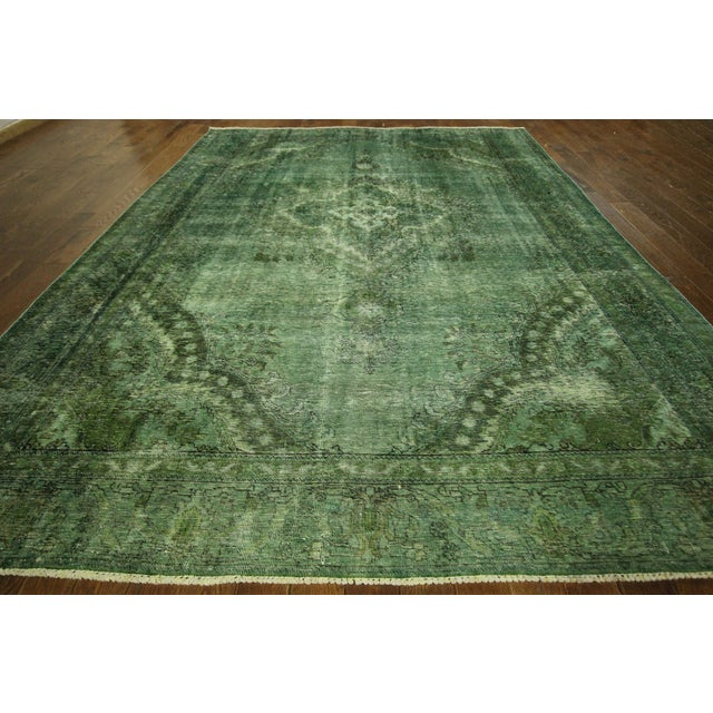 Overdyed Floral Hand Knotted Wool Rug - 9' x 12' - Image 3 of 10