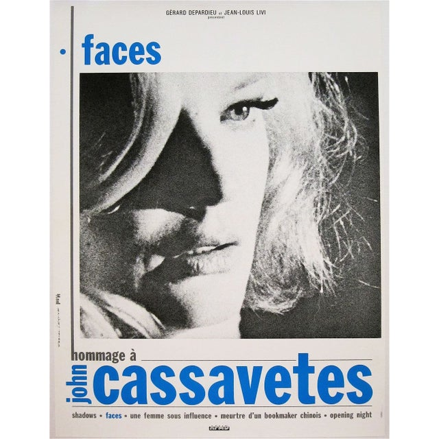 """Faces"" French Film Poster - Image 1 of 2"