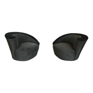 Vladimir Kagan Directional Nautilus Chairs - A Pair