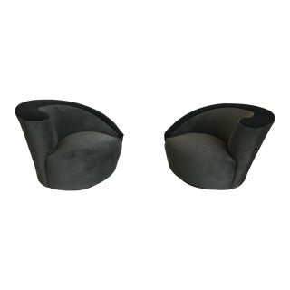 Vladimir Kagan Directional Nautilus Chairs - A Pair