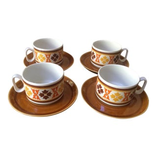 Italian Vintage Stackable Cappuccino Cups - Set of 4