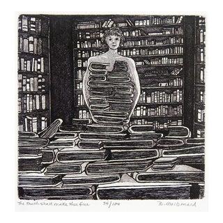Betty McDonald Library & Books Etching