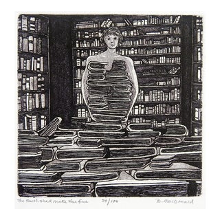 Betty McDonald Library & Books Etching