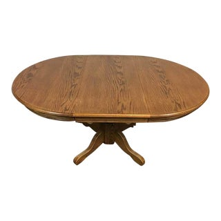 Carved Oak Oval Dining Table