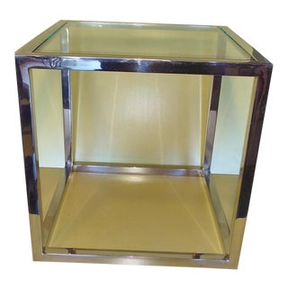1970s Milo Baughmon Chrome Side Table