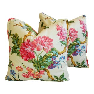 Brunschwig & Fils Coligny Spring Floral Pillows - a Pair