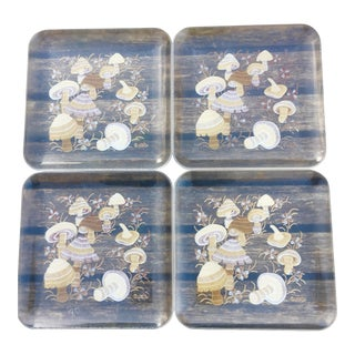 1960's Mushroom Plates - Set of 4