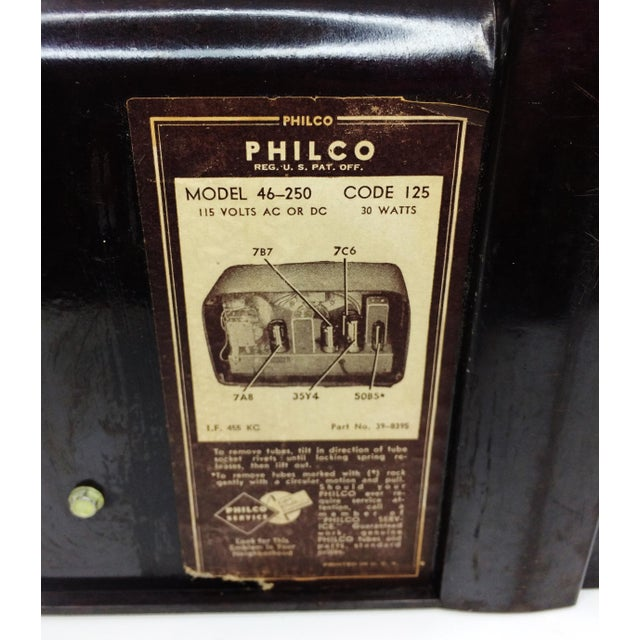 1946 Vintage Philco Transitone Tube Am Radio - Image 7 of 7