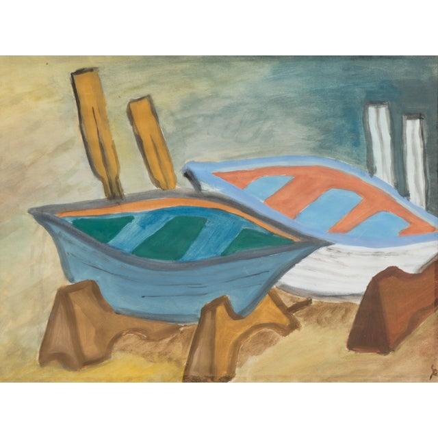 Regina Schafer Painting - Fishing Boats, Italy - Image 1 of 4