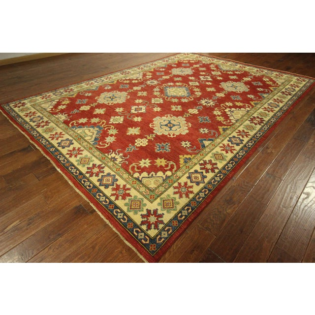 Super Kazak Hand Knotted Rug Red - 9' x 12' - Image 3 of 11