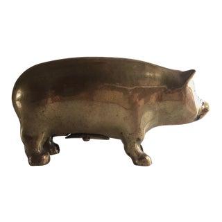 Antique Brass Piggy Bank