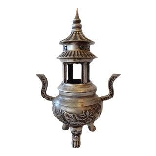 Bronze Tibetan Pagoda Incense Burner
