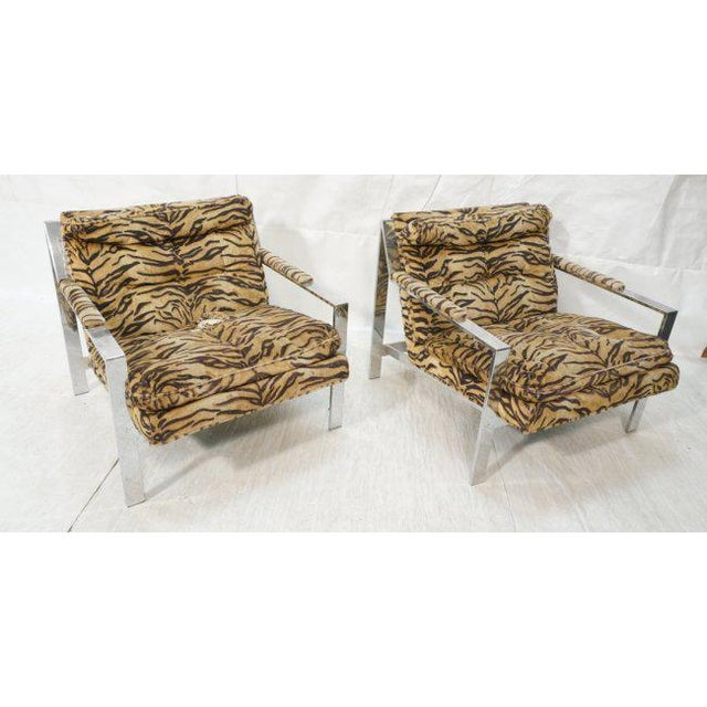 Cy Mann Lounge Chairs in the Style of Milo Baughman, Set of Two - Image 7 of 7