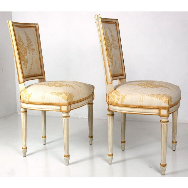 Cream & Gilt Accent Chairs by Baker - A Pair - Image 10 of 11