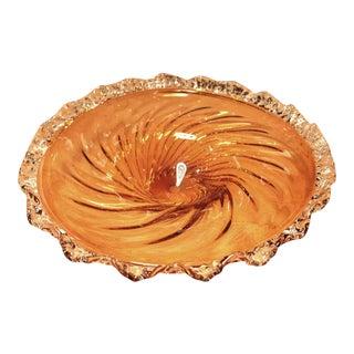 Amber Murano Glass Dish