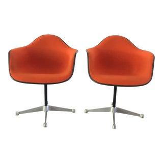 Eames Herman Miller Fiberglass Chairs - A Pair