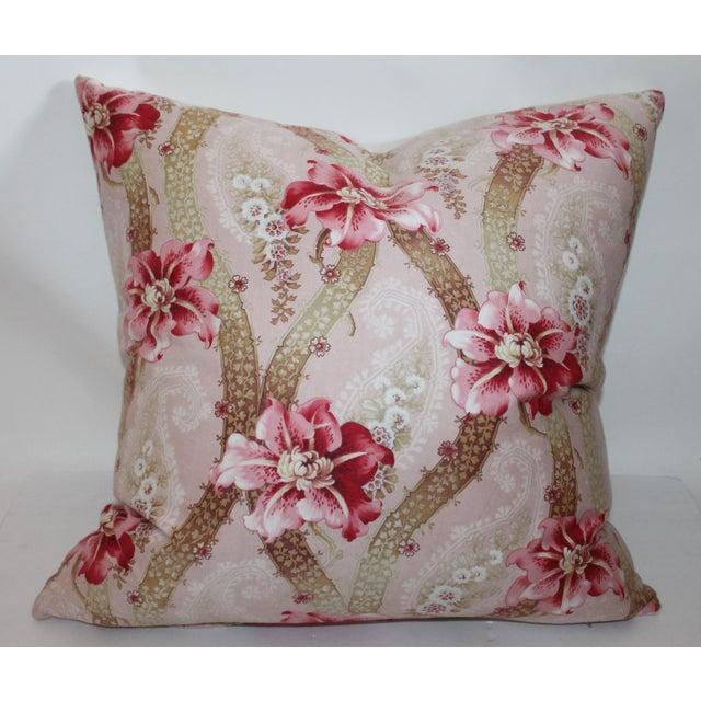 Vintage Floral Patterned Pillow - Image 2 of 6