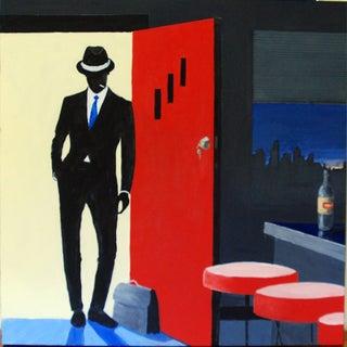"""Original Oil Painting """"Cool Guy"""" C. Kenworthy"""