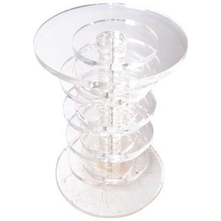 Vintage Stacked Lucite Discs Table Base