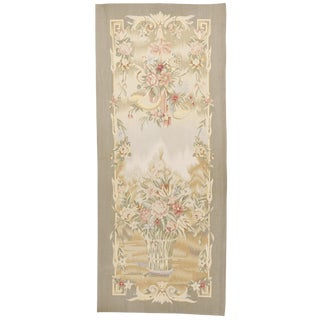 Chinese Aubusson Floral Tapestry