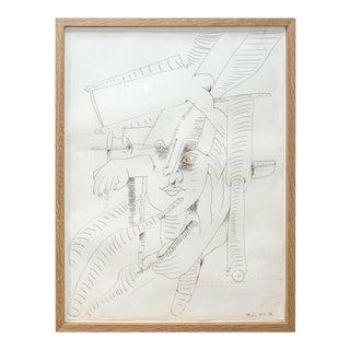 Atila (Biro) One of Eleven Pen & Ink Drawings