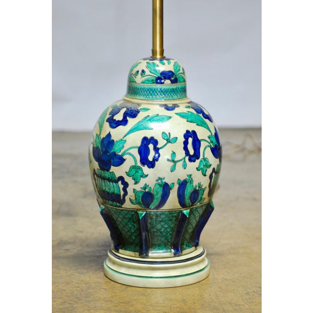 Marbro Italian Ceramic Faience Table Lamp - Image 2 of 9