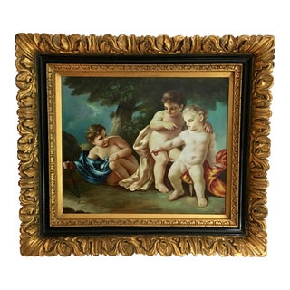Classical Mythology Cherubs Oil Painting