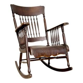 Antique Victorian Wooden Rocking Chair