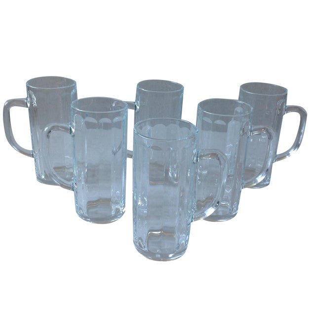 French Pint Beer Mugs - Set of 6 - Image 1 of 6