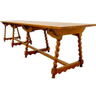 19th Century French Pine Refectory Table