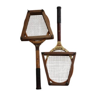 Vintage Tennis Rackets- A Pair