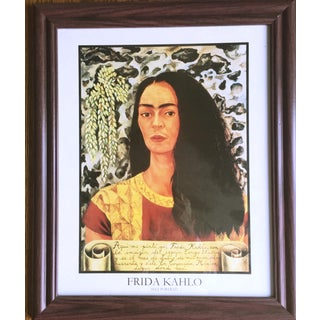 Frida Kahlo with Loose Hair Poster