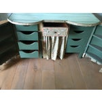 Image of Pale Green Vintage Vanity