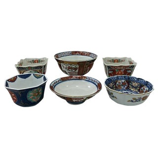Japanese Imari Mis-Matched Bowls- Set of 6