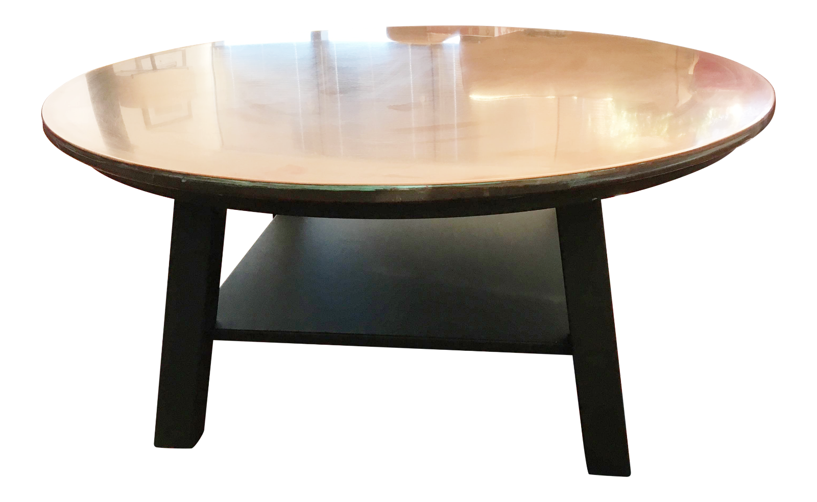 Ethan Allen Copper Top Coffee Table