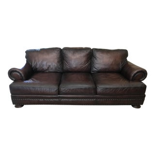 Brown Leather Bernhardt Sofa