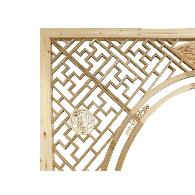 Chinese Natural Wood Arch Panel - Image 3 of 7