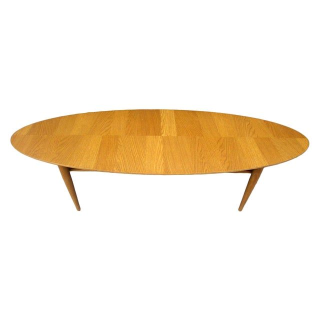 Oval Low Profile Wood Coffee Table Chairish