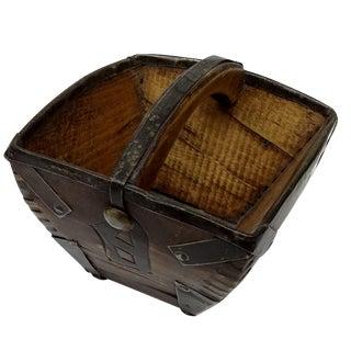 Vintage Chinese Mini Wood Rice Bucket