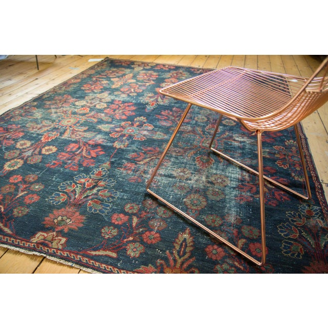 "Vintage Mahal Square Carpet - 6'4"" x 7'7"" - Image 8 of 10"