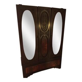 Antique Mirrored Door Armoire