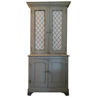 19th-Century French Painted Wood Cabinet