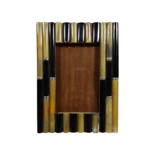 Faux Bamboo & Natural Horn Picture Frame