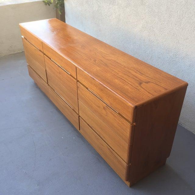 Danish 12-Drawer Teak Minimalist Dresser - Image 4 of 7